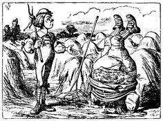 Ilustraciones Sir John Tenniel: Padre Guillermo parado de cabeza