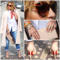 Adrienne Bailon styles in a Zara coat and Hermes accessories