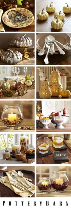 Potterybarn Thanksgiving - Pumpkins and candles and garlands, oh my!