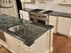 Featured Residential and Serpentine Countertop Projects - Vermont Verde Antique Serpentine - The beauty of marble, the durability of granite.