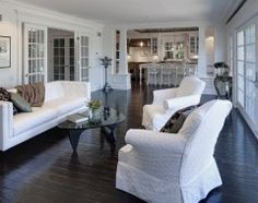 White with dark floors, love it