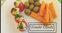 Yummy Tomato Boats With Hummus – Comfort Spring Station