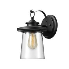 Buy the Globe Electric 44170 Black Direct. Shop for the Globe Electric 44170 Black Valmont Single Light Tall Outdoor Wall Sconce and save. Indoor Wall Sconces, Outdoor Wall Lantern, Outdoor Wall Sconce, Outdoor Wall Lighting, Outdoor Walls, Lighting Sale, House Lighting, Outdoor Areas, Lighting Ideas