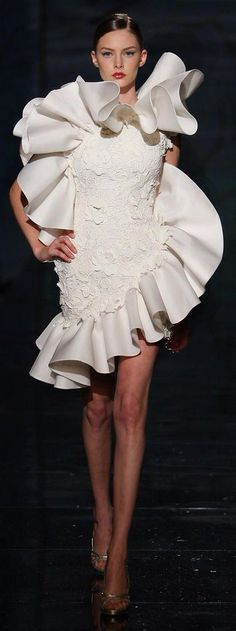 Fausto Sarli white cocktail dress /k