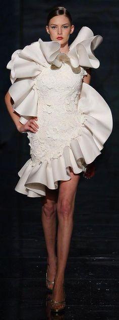 Fausto Sarli white cocktail dress /k