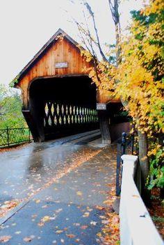 covered bridge in Woodstock VT