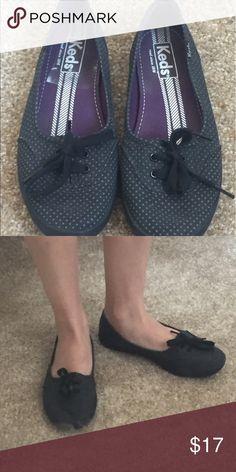 Polka dot keds flats Black and grey polka dot flats size 5.5 by keds Keds Shoes Flats & Loafers