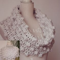 Crochet PATTERN (pdf file) - Bobble Snood or Poncho (two in one)
