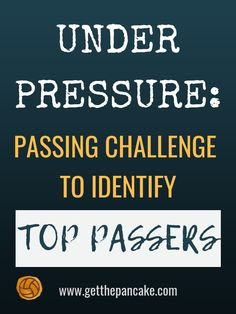 Under Pressure: Passing Challenge Drill To Identify Top Passers — Get The Pancake Volleyball Drills For Beginners, Volleyball Passing Drills, Volleyball Tryouts, Volleyball Quotes, Coaching Volleyball, Basketball Drills, Volleyball Ideas, Senior Softball, Girls Softball