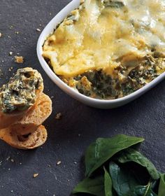 Served in the Crock pot! Spinach Artichoke Dip