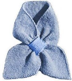This easy to knit ascot scarf in garter stitch has a loop to tuck one end through so this scarf won't slide off. The scarf is knit with 3-ply...