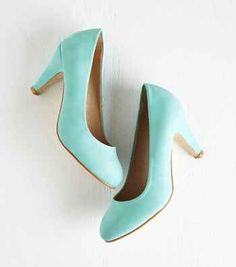 These beautiful minty-turquoise pumps that are as versatile as they are comfy.