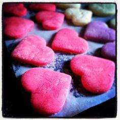cookies color!!!  #Cookies #CookiesColor #Corazones #Love