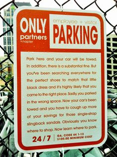Passive-Aggressive Parking Rules #Sign