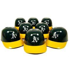 Oakland Athletics MLB 8oz Mini Baseball Helmet Ice Cream Snack Bowls (8) - Champions On Display