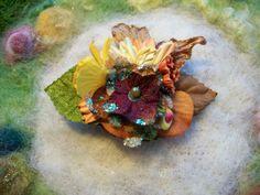 Hair Clip Harvest Flower by GratefulBeads on Etsy, $7.00 #handmadec
