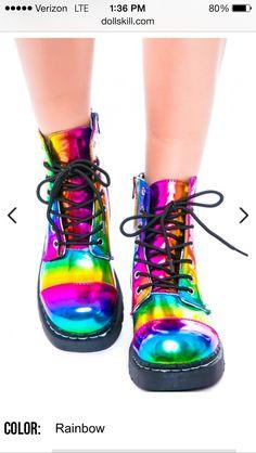 Rainbow combat boots? Yes please