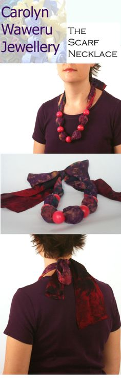 colourful scarf necklace