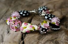 Heart+Of+Mine+Lampwork+Bracelet+by+hippkittybeads+on+Etsy,+$127.88