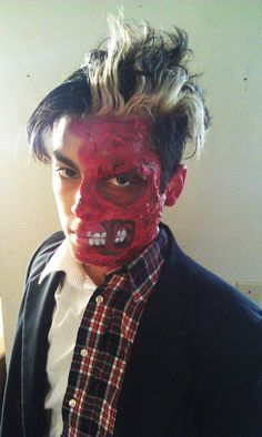 Great for a Two-Face type Halloween makeup | Moldmaking Materials ...