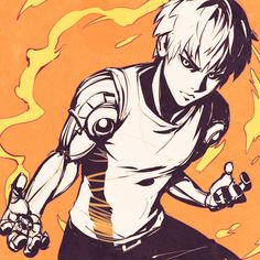 One Punch Man - Genos sketch By Kuvshinov Ilya One Punch Man Manga, Cowboy Bebop, Fanart Manga, Manga Anime, Blue Exorcist, Art Alien, Kuvshinov Ilya, Saitama One Punch Man, Anime One