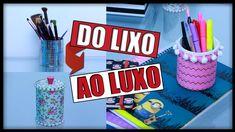 No DIY (Faça Você mesmo) de hoje, vou mostrar para vocês como transformar Lixo em Luxo; 3 ideias fáceis de fazer para decorar seu quarto ou home office sem g...