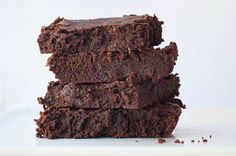 The best fudge brownies ever Double Chocolate Brownies, Fudgy Brownies, Sweet Recipes, Healthy Recipes, Healthy Food, Brownies From Scratch, 9x13 Baking Dish, Sin Gluten, Gluten Free