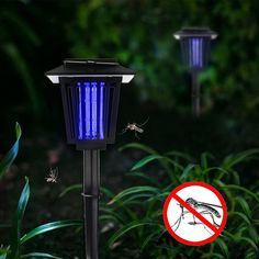Solar Bug Zapper, YUSHAN Outdoor Insect / Mosquito/ Flying Killer Light Solar Pathway Lights, Pathway Lighting, Solar Lights, Mosquito Zapper, Bug Zapper, Plants That Repel Bugs, Pathways, Solar Power, Insects
