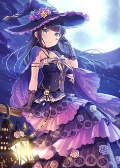 Dia the Witch : LoveLive Manga Halloween, Halloween Magic, Manga Girl, Manga Anime, Anime Art, Chica Fantasy, Fantasy Girl, Anime Sexy, Kawaii Girl