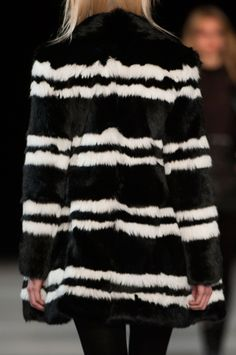 Saint Laurent Fall 2014 _black and white double stripe