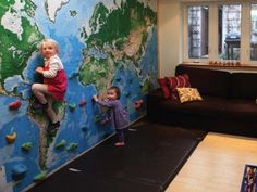 Super sweet! Build an Indoor Bouldering Wall for Kids.