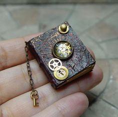 ♥Miniature Book---Best Leather Bound miniatures around♥