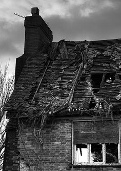 """I took these for the Hertfordshire monthly comp """"Decay"""", not sure which one to use. I used HDR with +/- 1 EV in Photomatix to bring out some extra detail then converted it to mono in and used some dodge and burn. Abandoned Property, Abandoned Mansions, Abandoned Buildings, Abandoned Places, Abandoned Vehicles, Lost That Loving Feeling, Derelict House, Growth And Decay, State Of Decay"""