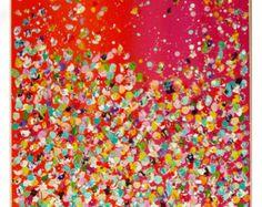 Fleur d'Art peinture Art contemporain de mur par MilaSchoeneberg