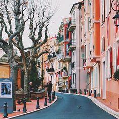 Monaco city street. Photo courtesy of erick2790 on Instagram.