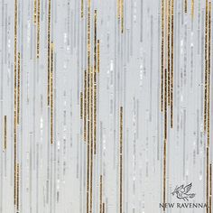 Zebrano, a hand cut mosaic shown in Gold Glass, Shell, Thassos and Afyon White, is part of the Aurora Collection by Sara Baldwin for New Ravenna.