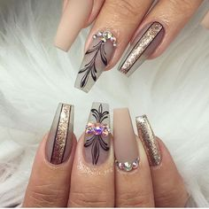 60 newest coffin nails designs short coffin nails; Cute Acrylic Nails, Acrylic Nail Designs, Nail Art Designs, Peach Nails, Pink Nails, Stylish Nails, Trendy Nails, Fancy Nails, Cute Nails