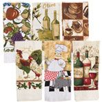 """Printed Cotton Dish Towels, 15x25"""""""