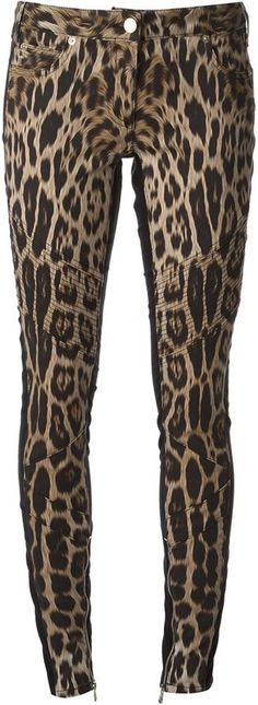 $629, Roberto Cavalli Leopard Print Skinny Jeans. Sold by farfetch.com. Click for more info: https://lookastic.com/women/shop_items/182446/redirect