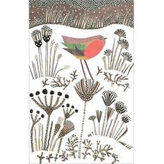 seed heads and robin