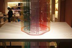 東京銀座資生堂ビル 2012年1月 ショーウインドー1