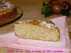Torta di ricotta con mele e mandorle http://blog.giallozafferano.it/magnaconme/torta-ricotta-mele-mandorle/