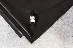 SANKAKU clutch in genuine leather  by Eleni Pashalidou