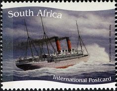 Stamp: Kildonnan Castle (South Africa) (Ships of the Union Castle Line) Mi:ZA Union Of South Africa, Tall Ships, Stamp Collecting, Postage Stamps, Sailing Ships, Transportation, Art Photography, Castle, Ocean