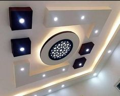 Top 40 Modern False Ceiling Design Ideas of - Engineering Discoveries Drawing Room Ceiling Design, Simple False Ceiling Design, Plaster Ceiling Design, Gypsum Ceiling Design, Interior Ceiling Design, House Ceiling Design, Ceiling Design Living Room, Ceiling Light Design, False Ceiling Ideas