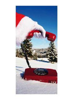Motivdruck Santa calling Papier