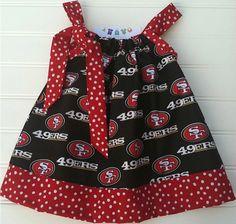 San Francisco 49ers Pillowcase Dress Available by BabyThreadsByLiz, $28.00