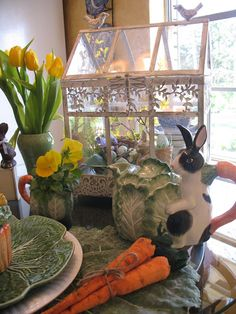 Miss Bloomers : Here Comes Peter Cottontail Easter Table