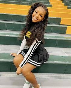 Cute Little Girls Outfits, Swag Outfits For Girls, Teenage Girl Outfits, Cheer Outfits, Cheerleading Outfits, Cheer Dance Routines, Black Cheerleaders, Athletic Girls, Pretty Black Girls