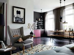 grey and black Peter Fehrentz Fonte: Elle Decoration February 2013